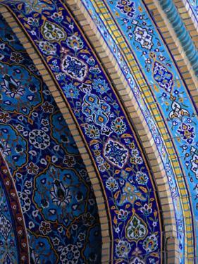 Moasic Detail of Iranian Mosque, Dubai, United Arab Emirates by Phil Weymouth