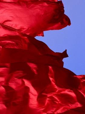 Red Flags Over Tiananmen Square Bejing, China by Phil Weymouth