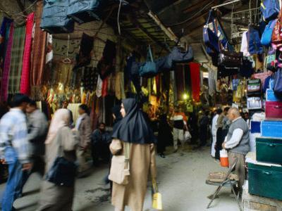Shoppers in Central Bazaar Area Shiraz, Fars, Iran by Phil Weymouth