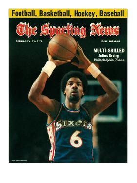 Philadelphia 76ers' Julius Erving - February 11, 1978