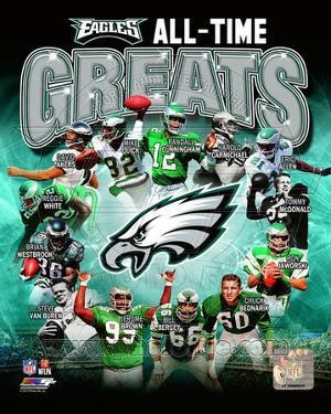 Philadelphia Eagles All Time Greats Composite