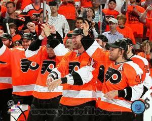 Philadelphia Flyers - Scott Hartnell, Michael Leighton, Arron Asham, Jeff Carter Photo