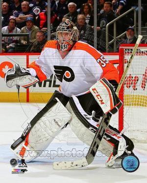 Philadelphia Flyers Steve Mason 2013-14 Action