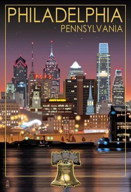 Philadelphia, Pennsylvania - Skyline at Night