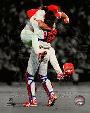 Philadelphia Phillies - Darren Daulton, Mitch Williams Photo