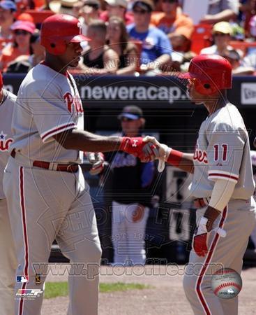 Philadelphia Phillies - Jimmy Rollins, Ryan Howard Photo