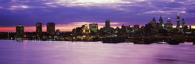 Philadelphia skyline at dusk, Pennsylvania, USA