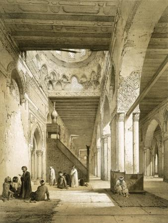Interior of the Maqsourah in the 9th Century Mosque of Ahmed Ibn-Touloun, Cairo (Litho)