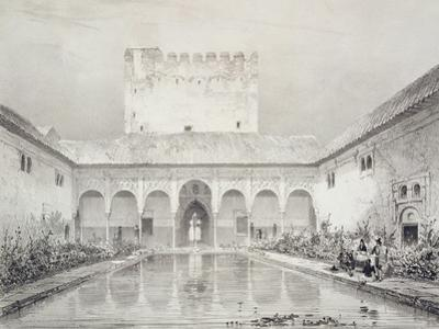 Pool and Fountain in the Courtyard of the Alberca