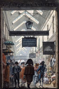 The Shopping Arcade 'Des Panoramas' in Paris, 1807 by Philibert Louis Debucourt