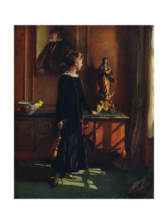 'Lucy de Laszlo, the artist?s wife', 1919