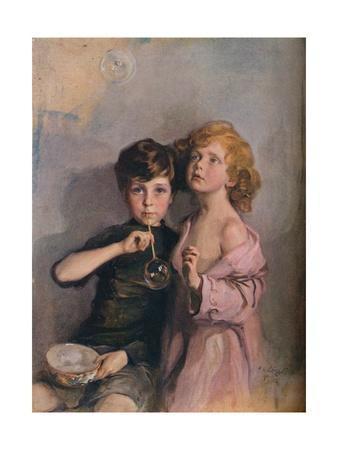 'My Children, Stephen and Paul', c1910.