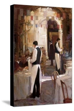 Two Waiters, Place des Vosges by Philip Craig