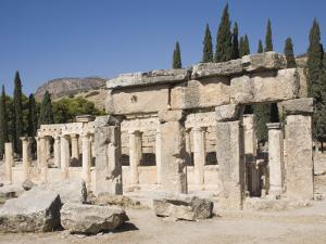 Agora, Archaeological Site of Hierapolis, Pamukkale, Anatolia, Turkey Minor, Eurasia by Philip Craven