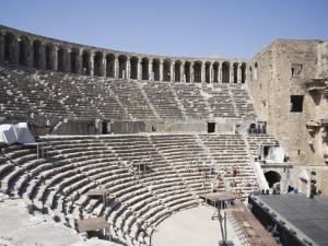 Amphitheatre Dating from 162 AD, Aspendos, Antalya Region, Anatolia, Turkey Minor, Eurasia by Philip Craven