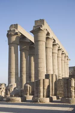Colonnade, Luxor Temple, Luxor, Thebes, UNESCO World Heritage Site, Egypt, North Africa, Africa by Philip Craven