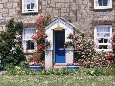 Cottage at Charlestown, Cornwall, England, United Kingdom