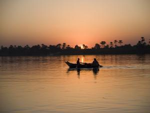 Fishing Boat, Sunset, River Nile, Egypt, North Africa, Africa by Philip Craven