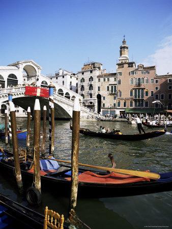 Grand Canal and the Rialto Bridge, Unesco World Heritage Site, Venice, Veneto, Italy