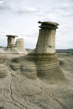 Hoodoos, Limestone Features, Badlands, Drumheller Area, Alberta, Canada, North America by Philip Craven