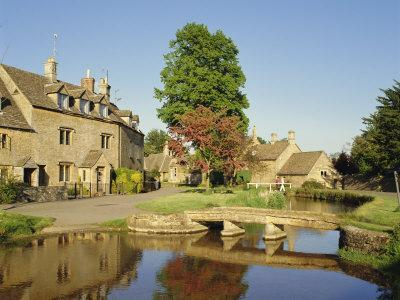 Lower Slaughter, the Cotswolds, Gloucestershire, England, UK