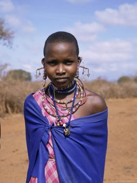 Masai Woman, Kenya, East Africa, Africa by Philip Craven