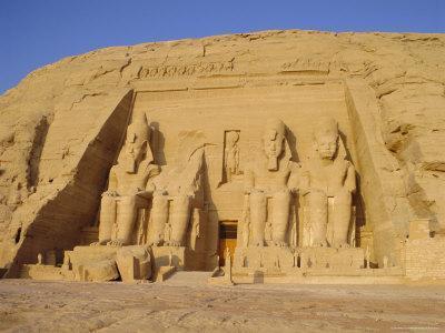 Rock Cut Temple of Ramesses II (Rameses the Great) (Ramses the Great), Abu Simbel, Nubia, Egypt