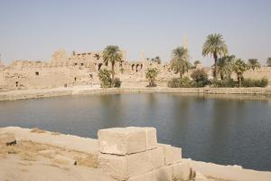 Sacred Lake, Temple of Karnak, Karnak by Philip Craven