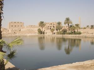 Sacred Lake, Temples of Karnak, Karnak, Near Luxor, Thebes, UNESCO World Heritage Site, Egypt by Philip Craven