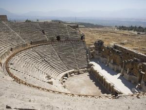 Theatre, Built 200Bc, Archaeological Site of Hierapolis, Pamukkale, Anatolia, Turkey Minor, Eurasia by Philip Craven