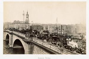 Traffic on London Bridge by Philip de Bay