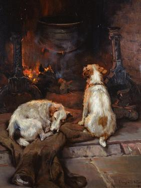 By the Hearth, 1894 by Philip Eustace Stretton
