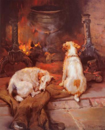 Warming by the Hearth by Philip Eustace Stretton