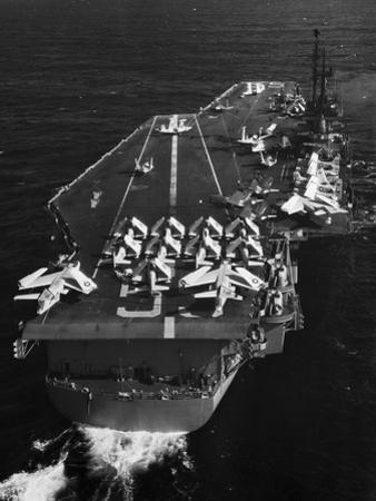 Aircraft Carrier USS Forrestal out to Sea by Philip Gendreau