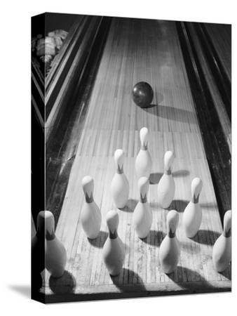 Bowling Ball Heading Toward Pins by Philip Gendreau