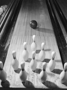 Bowling Ball Heading Toward Pins by Philip Gendreau