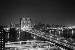 Brooklyn Bridge at Night by Philip Gendreau