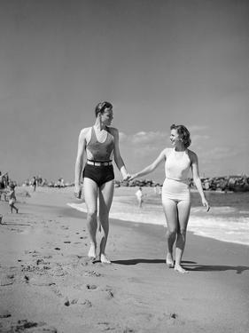 Couple in Bathing Suits at the Beach by Philip Gendreau