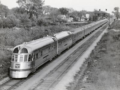 Denver Zephyr Train Going through Town by Philip Gendreau
