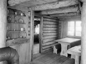 Inside View of Log Cabin by Philip Gendreau