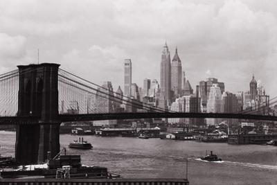 Lower Manhattan Skyline and Brooklyn Bridge by Philip Gendreau