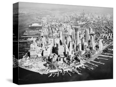 Manhattan from the Air with River Site by Philip Gendreau