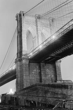New York's Brooklyn Bridge at Night by Philip Gendreau