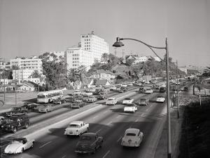Traffic on the Hollywood Freeway by Philip Gendreau