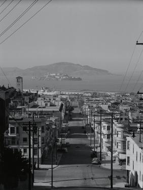 View of Alcatraz Island from Russian Hill by Philip Gendreau