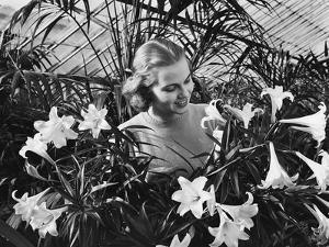 Woman Among White Lilies by Philip Gendreau