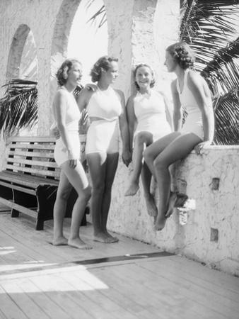 Women Gather Poolside by Philip Gendreau