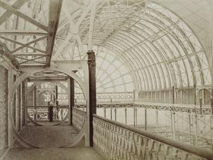 Photograph of Interior View Showing Upper Gallery in Crystal Palace, London by Philip Henri Delamotte