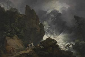 An Avalanche in the Alps by Philip James De Loutherbourg