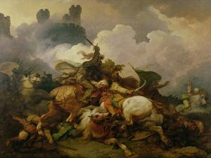 Battle Between Richard I Lionheart (1157-99) and Saladin (1137-93) in Palestine by Philip James De Loutherbourg